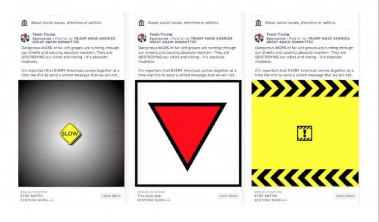 Facebook retira anuncio de Trump con símbolo usado por nazis