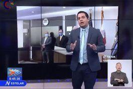 humberto lopez reaparece en la tv cubana exhibiendo el arsenal legal del regimen cubano contra la oposicion y el exilio