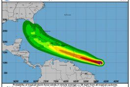tormenta tropical elsa: su paso al sur de puerto rico dejaria hasta tres pulgadas de lluvia y rafagas de viento