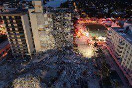 imagenes devastadoras: asi quedo la zona donde estaba el edificio que se derrumbo en miami