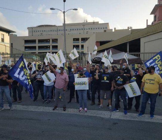 Unos 500 trabajadores de la Utier regresan a la calle para protestar contra LUMA Energy