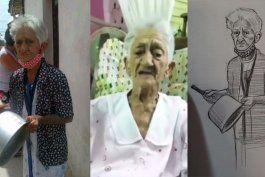 La abuela Sarah fue inmortalizada en un mural en la Calle Ocho de Miami. Cortesía.