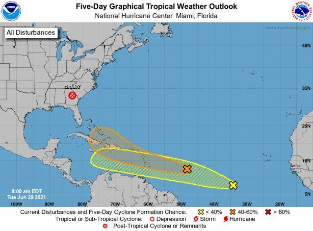 Dos ondas tropicales se encuentran en ruta al Caribe