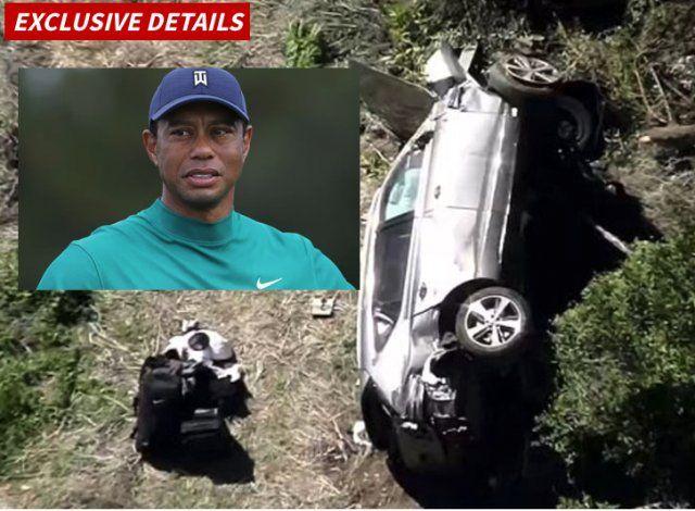 Tiger Woods sufrió un fuerte accidente automovilístico y fue hospitalizado