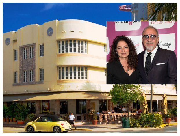 Gloria y Emilio Estefan reabren el hotel Cardozo de Miami Beach tras invertirle $15 millones