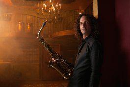 El famoso saxofonista estadounidense Kenny G.
