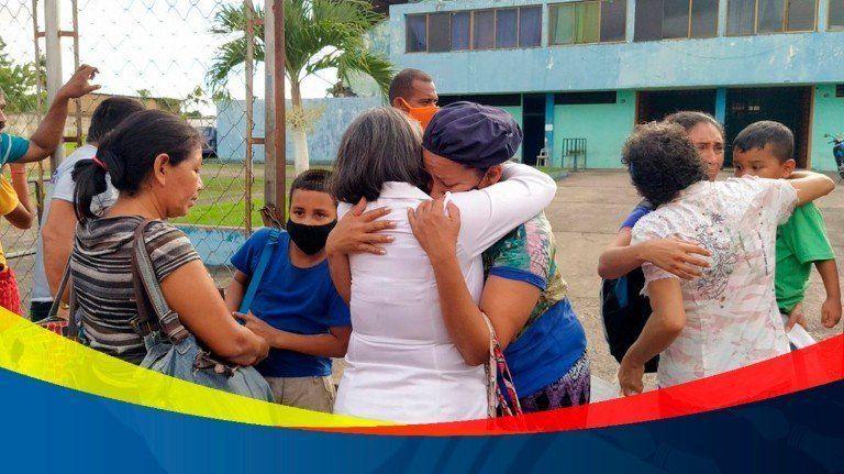 160 venezolanos deportados de Trinidad y Tobado fueron recibidos en Delta Amacuro