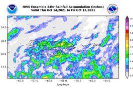 nuevo evento de tronadas fuertes dejaria entre una a dos pulgadas de lluvia esta tarde