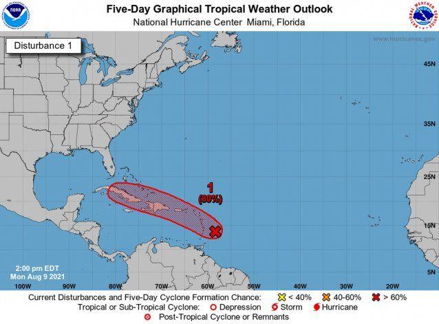 Emiten vigilancia de tormenta tropical para Puerto Rico por Potencial Ciclón Tropical 6