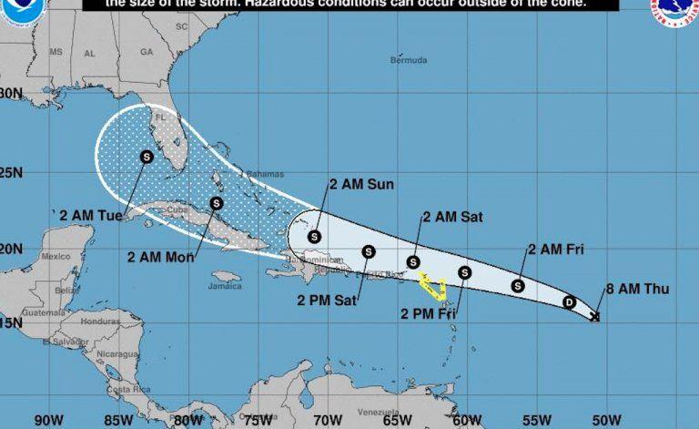 Florida en la ruta de la depresión tropical 13 que podría transformarse en tormenta