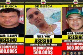 venezuela: ofrecen recompensa para capturar lideres de banda