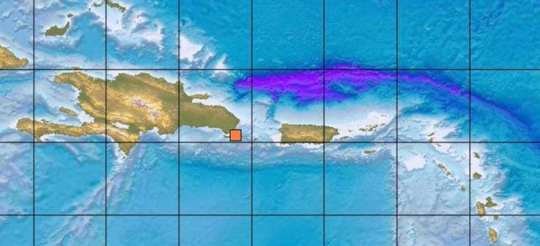 Registran un temblor con magnitud de 5.03 al este de República Dominicana