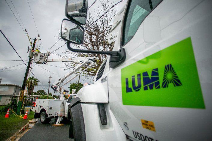 Sobre 33,000 clientes de LUMA Energy están sin energía eléctrica