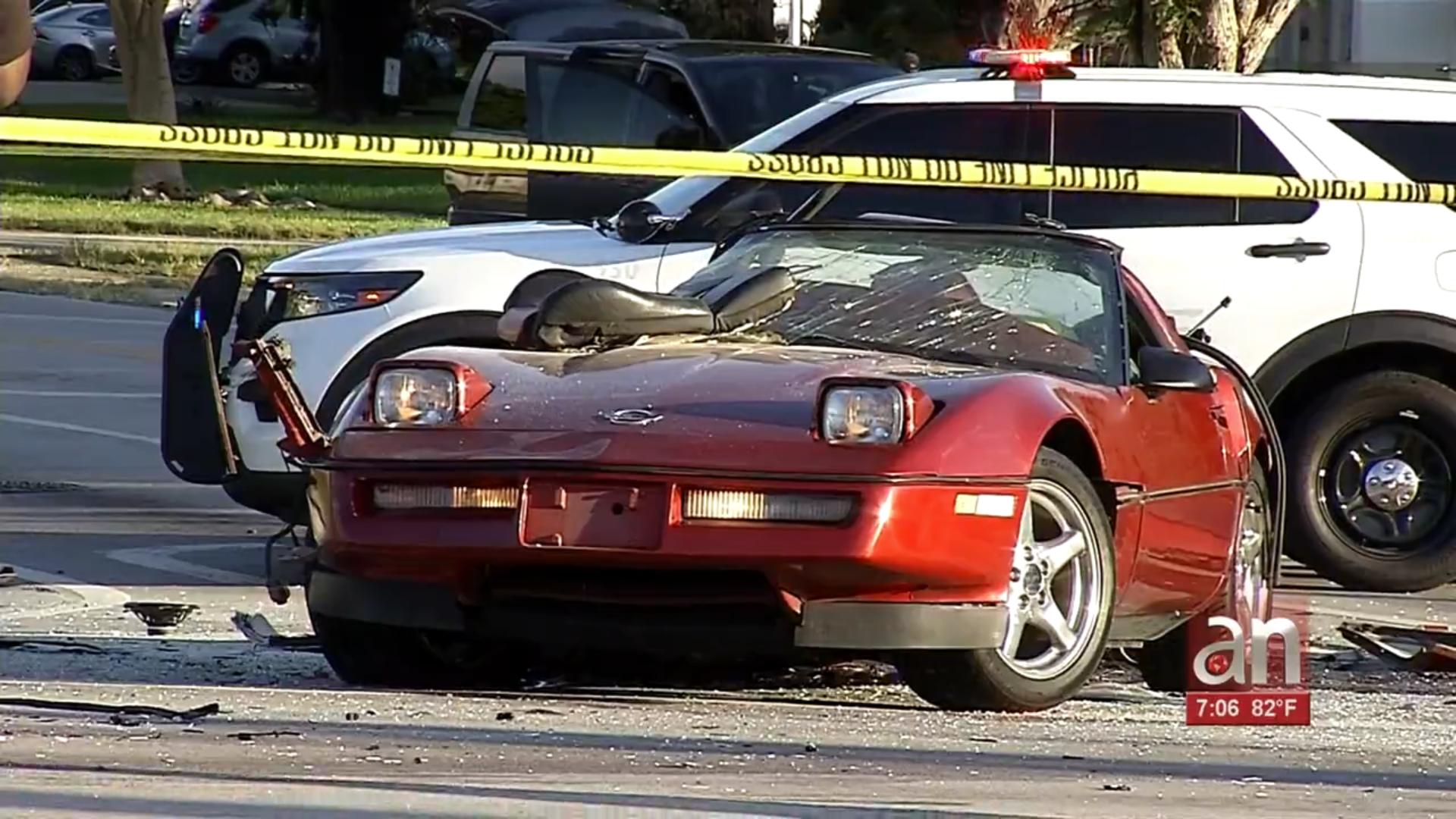 el conductor de un corvette muere en terrible accidente en miami gardens