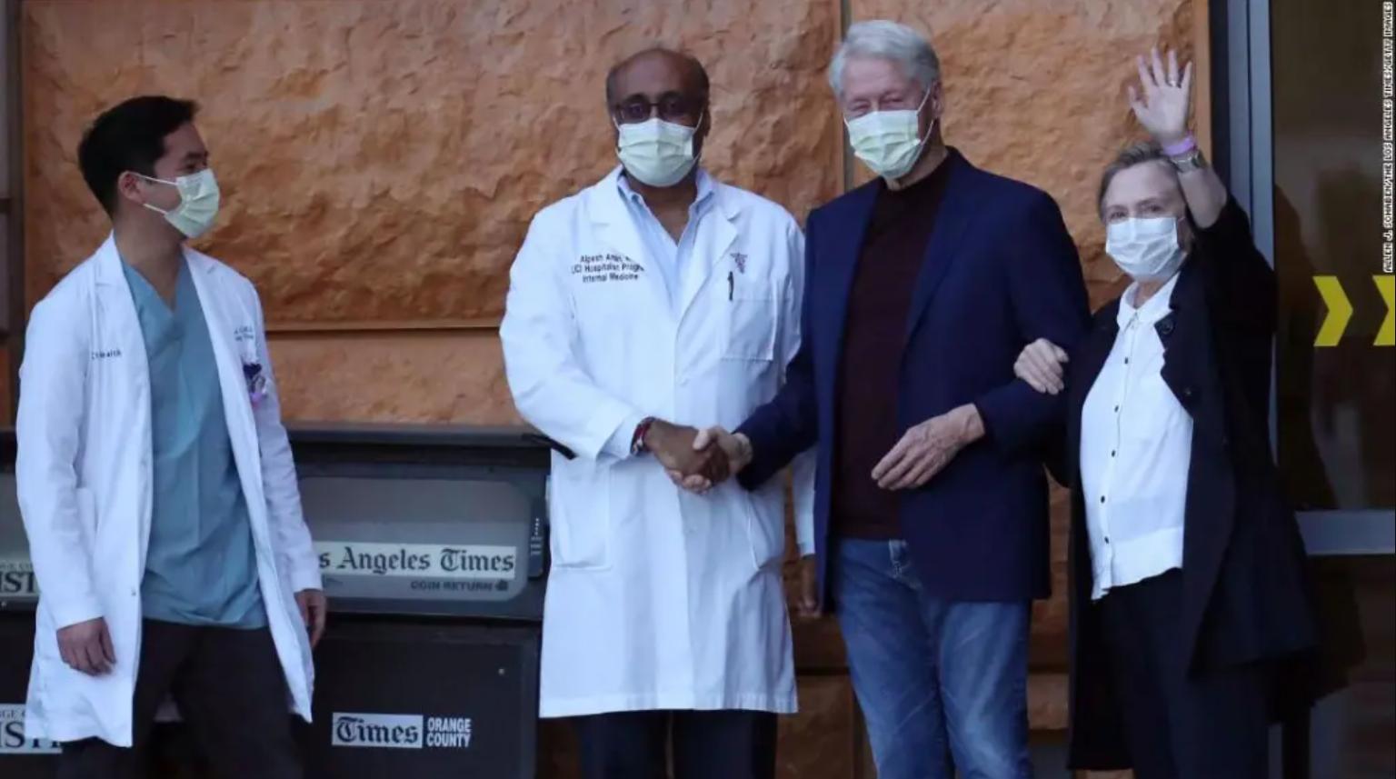 dan de alta al expresidente bill clinton luego de pasar cinco dias en un hospital de california debido a una infeccion