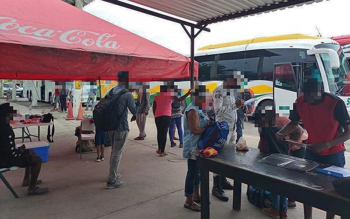 mexico.- detenidos 71 migrantes en veracruz, mexico