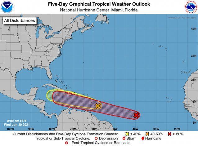 El este, sur y sureste de la isla serán las zonas más afectadas con lluvia y viento por el paso de una onda tropical