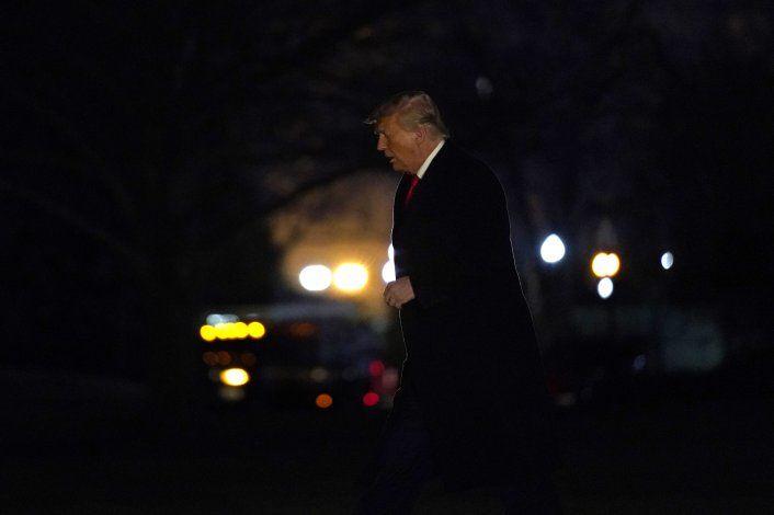 Trump aislado y en silencio ante 2do juicio político