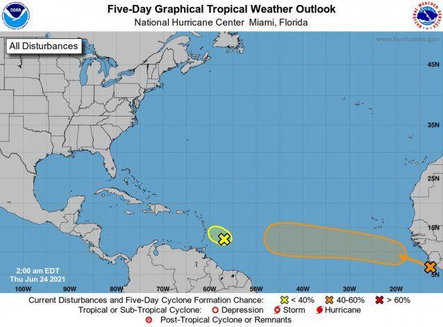 Una onda tropical que sale de África podría convertirse en depresión