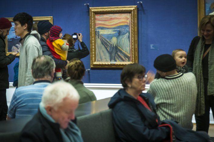 """Museo: Munch escribió frase sobre loco en """"El grito"""""""